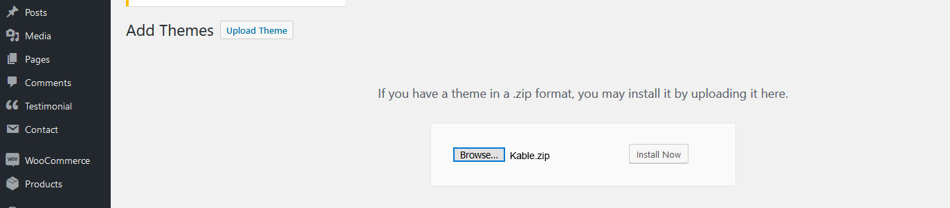Documentation for Kable woocommerce Theme